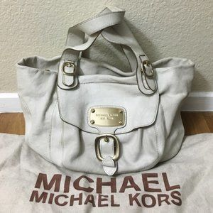 MK Large Leather Shoulder Tote